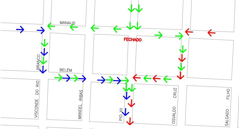 mapa rotas alternativas